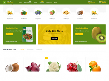 Opencart Firezy - Фрукты и овощи 02179