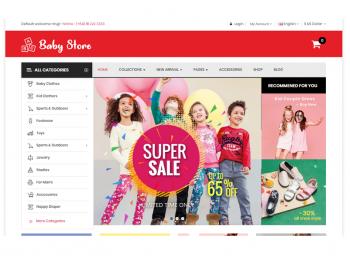 Opencart BabyStore - Детские товары